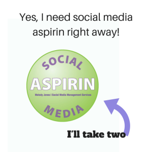 Yes, I need social media aspirin right away!